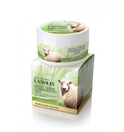 Wild Ferns Lanolin Night Creme Combination / Oily Skin, 100g