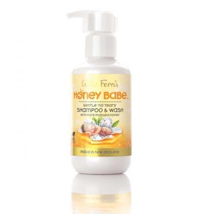 Wild Ferns Honey Baby Shampoo & Wash, 140ml
