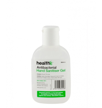 healthE Antibacterial Hand Sanitiser Gel, 60ml